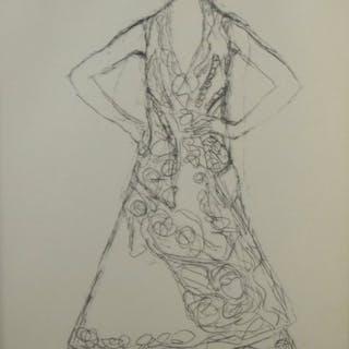 Gustav Klimt (1862 - 1918) - Stehende Dame 1916.