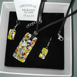 Murano - Halskette und Ohrringe - Glas