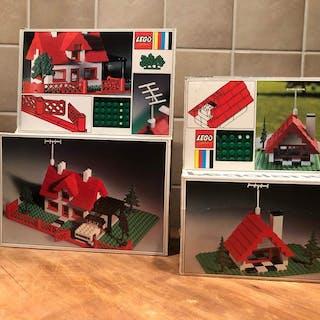 LEGO - Legoland - 344 en 346 - Gebäude Bugalow and House...