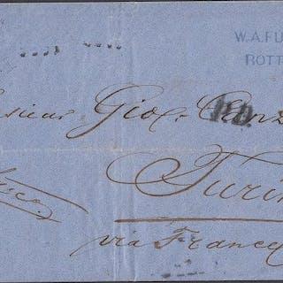 Paesi Bassi 1867 - Letter from Turin via France - NVPH 11