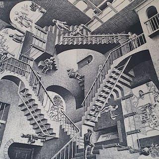 (Naar) M.C. Escher (1889 - 1972) - Relativiteit - Uitgave G. W. Breughel