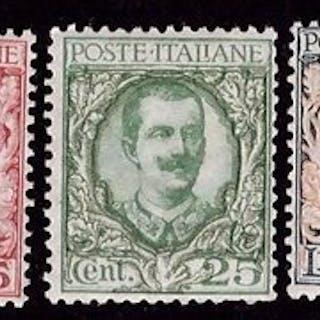 Italien Königreich 1923/1927 - Floral set, 5 values - Sassone NN. 150, S41