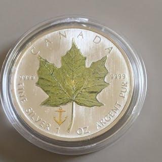 """Kanada - 5 Dollar 2007 - Maple Leaf - """"Vierjahreszeiten"""" - 1 Oz - Silber"""