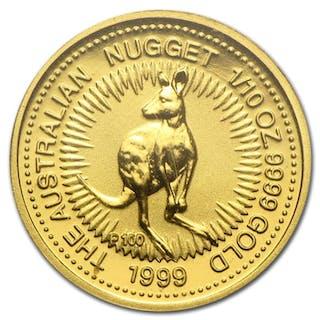 Australia - 15 Dollars 1999 Perth Mint Australien Nugget Känguru 1/10 oz - Gold