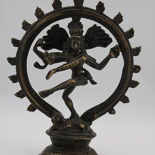 Shiva Nataraja Bronze Skulptur - Bronze - Indien - Zweite Hälfte des 20