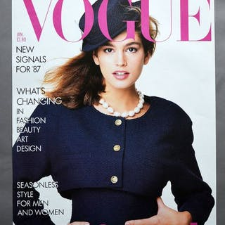 Conde Nast Publication - Vogue January, Cindy Crawford - 1987