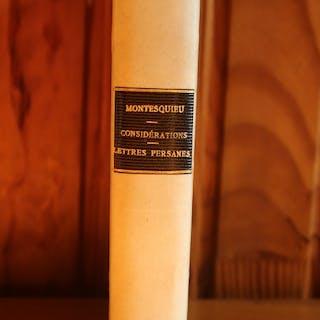 Montesquieu - Grandeurs et Décadence des Romains & Lettres persanes - 1853