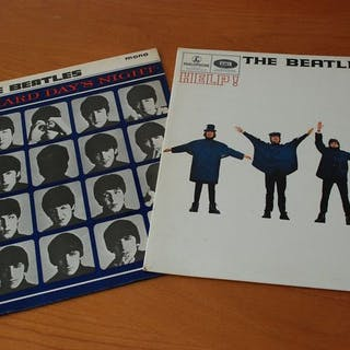 """Beatles - 2 lp's : """"Help and A Hard Day's Night""""..."""