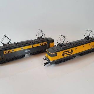 Lima H0 - 208186S01/L208189 - Elektrolokomotive - 2x Serie 1300 - NS