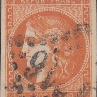 Frankreich - Bordeaux issue, 40c orange, signed Brun - Yvert 48