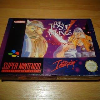 """Nintendo Snes - """"The Lost Vikings II"""" Fully Complete - In original box"""