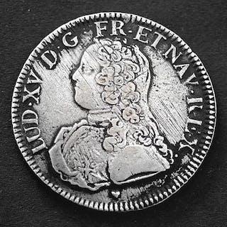 Frankreich - Louis XV - Ecu 1728-BB (Strasbourg) - 8 over 6 - Silber
