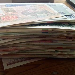 World - 500 banknotes - various dates and countries
