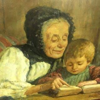 firma non leggibile - bambino a lezione