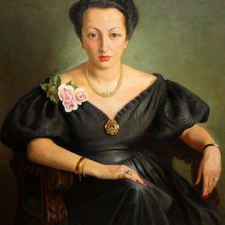 Antoni Pous Palau (1870 - 1959)- Retrato femenino