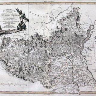 Italia, Piemonte;  Antonio Zatta - Parte del Piemonte