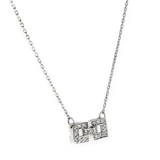 18 kt. Gold, White gold - Necklace with pendant Diamond