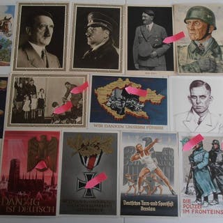 Germany - 175 Propaganda cards and postcards of the German Empire 1933-1945