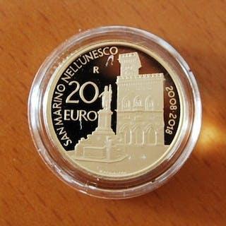 San Marino - 20 Euro 2018 'Patrimonio Mundial de la UNESCO' - Gold
