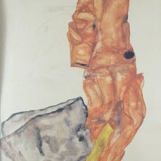 Egon Schiele (1890 - 1918) - Selbstbildnis