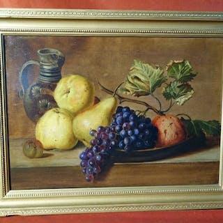 Johann Roux (1806-1880) - Stilleben mit Früchten und Krug