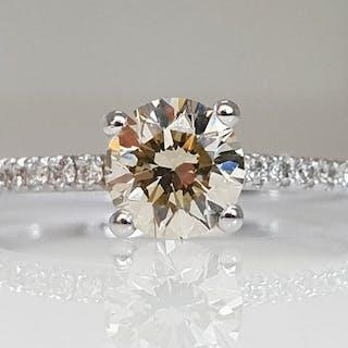 14 kt. White gold - Ring - 0.83 ct Diamond - No Reserve VS1