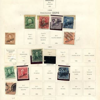 "Philippinen 1899/1946 -lot on printed leaves, some ""back of the book"" issues."
