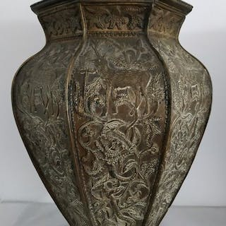 Big old asian vase - Bronze - Iran / India - Early 20th century