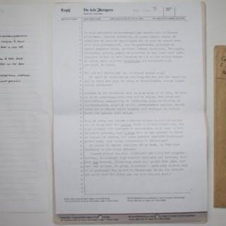 Origineel handschrift; Jeroen Brouwers - Een brief en een...