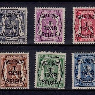 Belgien 1938 - Pre-cancelled - OBP / COB Preo reeksen 1/7