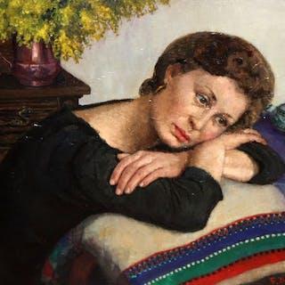 Francisco Domingo Segura (Barcelona, 1895 - Brasil, 1974)- Reposo