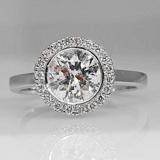 18 kt. White gold - Ring - 1.15 ct Diamond - No Reserve