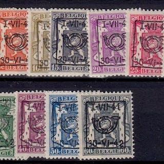 Belgien 1940/1941 - Pre-cancelled - OBP / COB Preo reeksen 19/21
