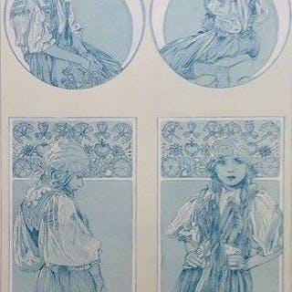 Alphonse Mucha (1860 - 1939) - Figures decoratives - Litho 6