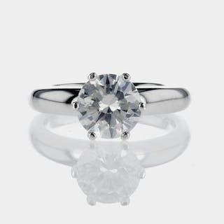 White gold - Ring - 2.00 ct Diamond - D/SI1