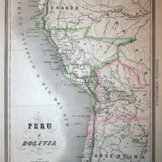 Südamerika, Peru Bolivia; Marmocchi - Peru e Bolivia - 1858