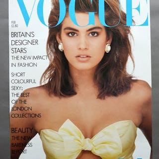 Conde Nast Publications - Vogue Febuary, Cindy Crawford - 1987