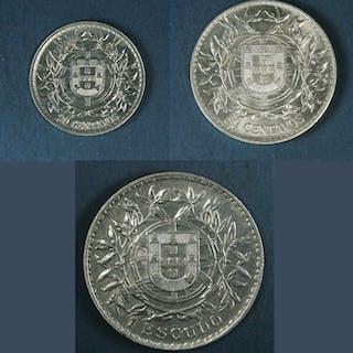 Portugal - República - 20/50 Centavos & 1 Escudo1916 - Silver