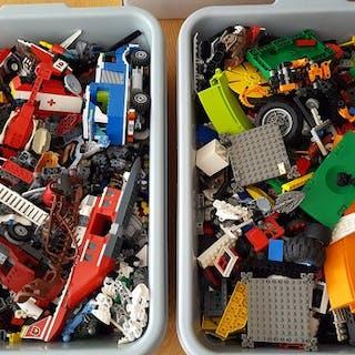 LEGO - Assorti - +/- 8,0 kg  onderdelen - 1980-1989