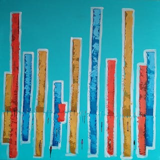 Filip Łoziński- Composition in turquoise