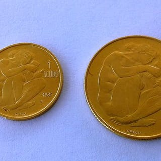 San Marino - 1+2 Scudo 1981 - Gold
