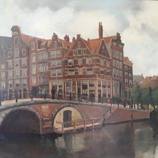 Carl August Streefkerk (1884-1968) - Amsterdamse Grachten