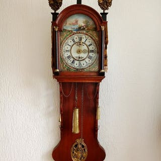 Antique Frisian tail clock - Wood, Oak - mid 19th century