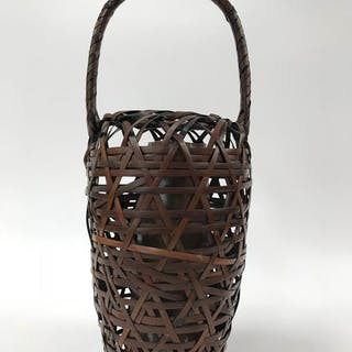 Bamboo Flower Ware - Bamboo and pottery buckets...
