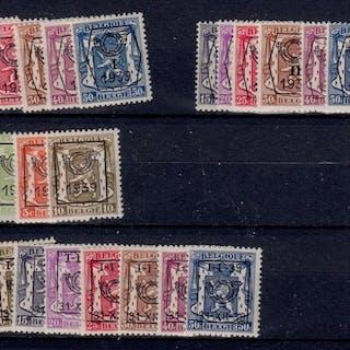 Belgien 1939/1940 - Pre-cancelled - OBP / COB Preo reeksen 13/17