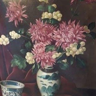 Joan B.N. van Gent (1871-1974) - Vaas en bloemen