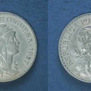 Portugal - República - 1 Escudo 1927 & 1928- Alpaka