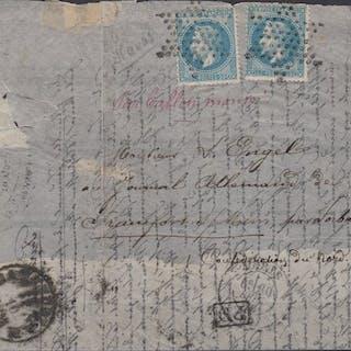 "Francia 1870 - ""L'Armand Barbès"" balloon mail on correspondence"