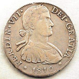 Spain - 8 Reales - 1810 HJ - Mexico - Fernando VII - Silver
