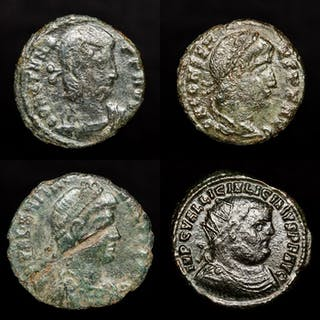 Römisches Reich - Lot comprising 4 AE coins: - Constans